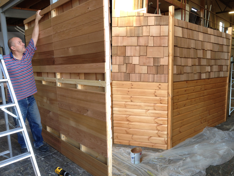 Construction of travelling garden shed